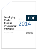 Developing Market Specific Procurement Strategies