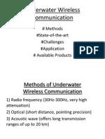 Under Water Wireless Communication Very Beginning