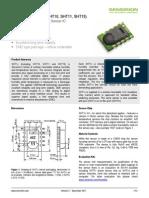 Sensirion Humidity SHT1x Datasheet V5