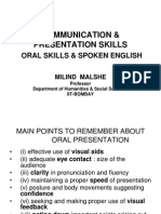 Communication Presentation Skills Oral Skills Spoken English (1)