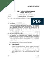 Caracteristicas Materiales Concreto Hidraulico N-CMT-2!02!002-02