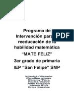Programa de Intervención 3ero de Primaria
