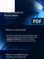 Investment in Associates Report