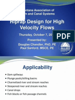 Riprap Design for High Velocity Flows