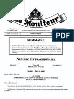 Loi Cadre Portant Organisation Du Secteur de l 'Eau Potable Et de l 'Assainissement