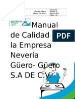 Manual de Calidad Neverías Güero, Güera