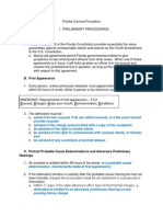 FL Criminal Procedure Bar Notes