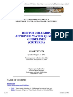Canada BC Water Guidelines