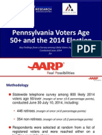 PA Voters Age 50+ and the 2014 Election