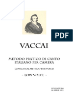 Vaccai Method Low Voice