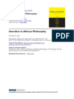 Bell_Narrative in African Philosophy