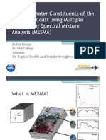 Modeling Water Constituents of the California Coast using Multiple Endmember Spectral Mixture Analysis (MESMA)