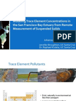 Modeling Trace Element Concentrations in the San Francisco Bay Estuary from Remote Measurement of Suspended Solids