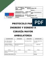 Protocolo Cirugia Mayor Ambulatoria