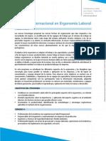 Programa Internacional en Ergonomía Laboral