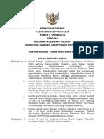 Peraturan Daerah Kabupaten Bandung Barat Nomor 2 Tahun 2012 tentang Rencana Tata Ruang WIlayah Kabupaten Bandung Barat Tahun 2009 - 2029
