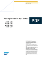 Post Implementation Steps for Note 2039647 - 617 - 605 (1)