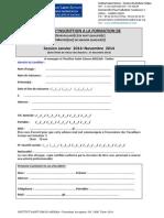 Dossier d'Inscription Tarbes 2014