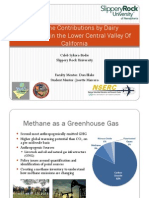 Methane Contributions by Dairy Operations in the Lower Central Valley Of California