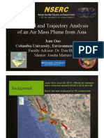 Chemical and Trajectory Analysis of an Air Mass Plume from Asia