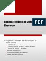 Clase 11 Generalidades Del Sistema Nervioso Copy