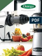 Omega Juicer and Beverage Equipment Manual