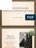 Psychodynamics explanation of OCD