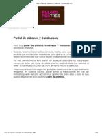 Pastel de Plátanos, Manzana y Frambuesas - Dulcespostres
