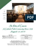 St. Rita Parish Bulletin 8/17/2014