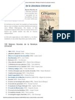 Lecturas Indispensables_ 100 Mejores Novelas de La Literatura Universal
