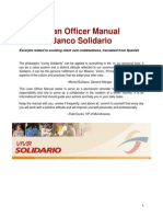 Banco Solidario-Loan Office Manual