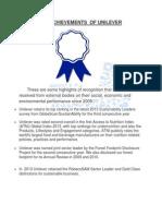 Awards of unilever