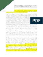 Declaración Final de la Conferencia Regional de Educación Superior en América Latina y El Caribe.docx
