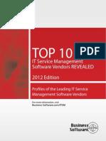Top 10 Itsm Vendors Service Desk