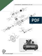 Vista Explodida Compressor CJ 20+ APV