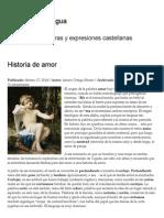 Historia de Amor _ Cápsulas de Lengua
