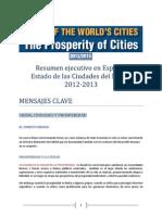 HABITAT-OnU - Estado de Las Ciudades Del Mundo 2013
