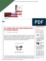 Napartarra, Información de Navarra_ 40 Cosas Que Hay Que Hacer en El Pc Ahora Mismo