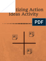 Prioritizing Action Ideas Activity