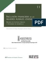 Paredes Hernández, Mariana - Inclusión Financiera de Las Mujeres Rurales Jóvenes, Balance de Políticas Públicas y Programas de Desarrollo