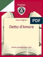Dante Alighieri-Detto d'Amore