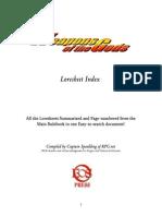 WotG Loresheet Index