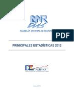 PRIINICIPALES ESTADÍSTICAS_2012