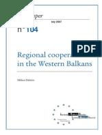 Regional Cooperation in the Western Balkans