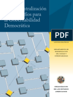 OEA (2008) La Descentralización y Los Desafíos de La Gobernabilidad Democrática