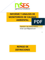 Presentacion 10.08.2014 Informe y Analisis de Monitoreos Ambientales (Aire - Agua - Suelo)