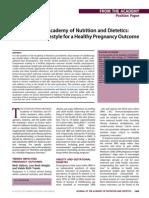 Healthy Pregnancy Position Paper
