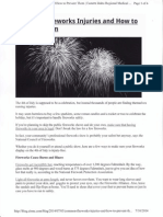 common fireworks injuries