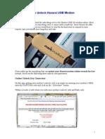 How to Unlock Huawei USB Modem