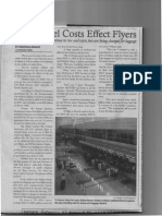 airline cost writing sample
